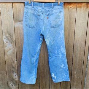 Vintage Levi's Orange Tab Blue Bleached Jeans